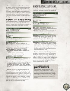 Beastman Monster Entry Page 2