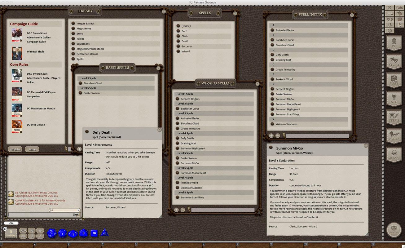 Fantasy Grounds Progress! | Sasquatch Game Studio